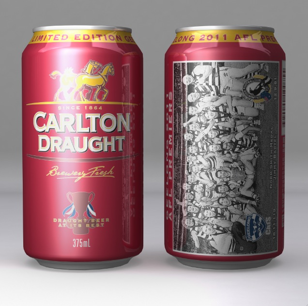 NEW 6 x Paper Promo AFL Carlton Draught Premiership Cup Grand Final Cardboard