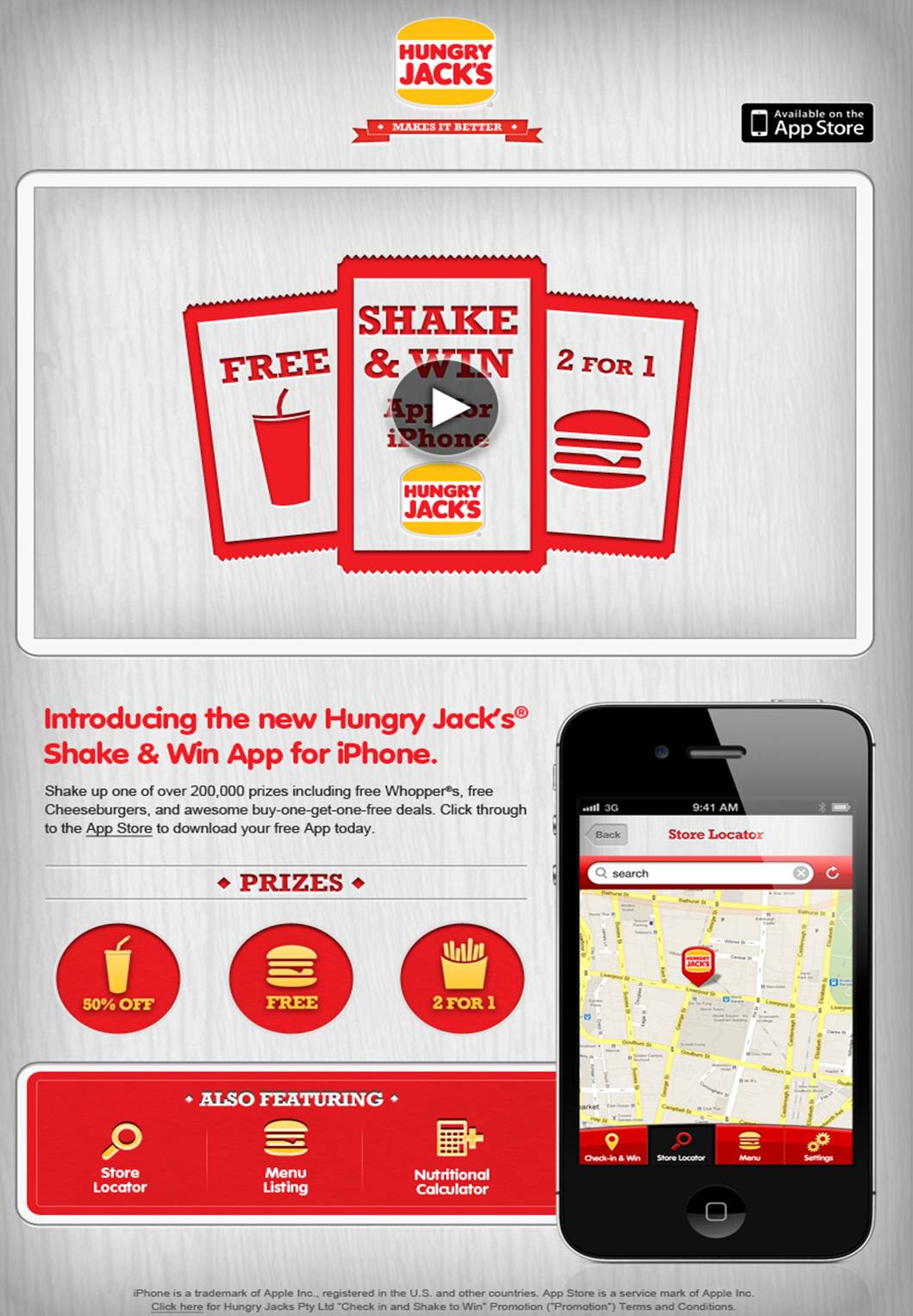 Clemenger BBDO Sydney-created Hungry Jack's iPhone app