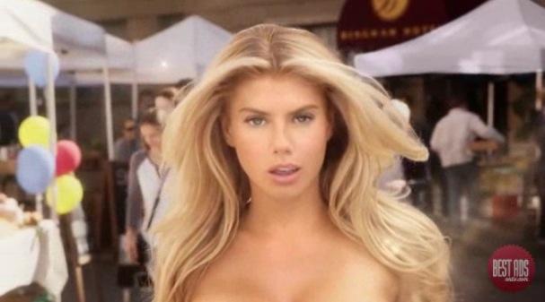Watch Charlotte McKinneys Carls Jr. Super Bowl Ad! Is