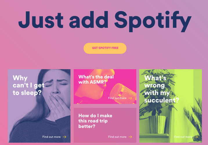 Spotify launches new 'Just Add Spotify' digital hub to hack adult-life problems via Eleven