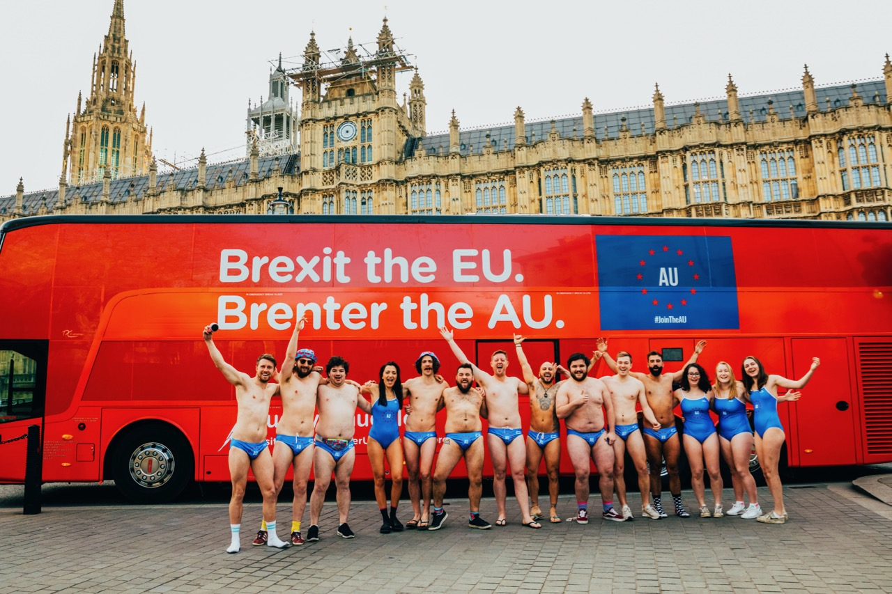 Amid Brexit chaos Budgy Smuggler calls on the UK to leave the EU and #JoinTheAU in new campaign via via Clemenger BBDO, Melbourne