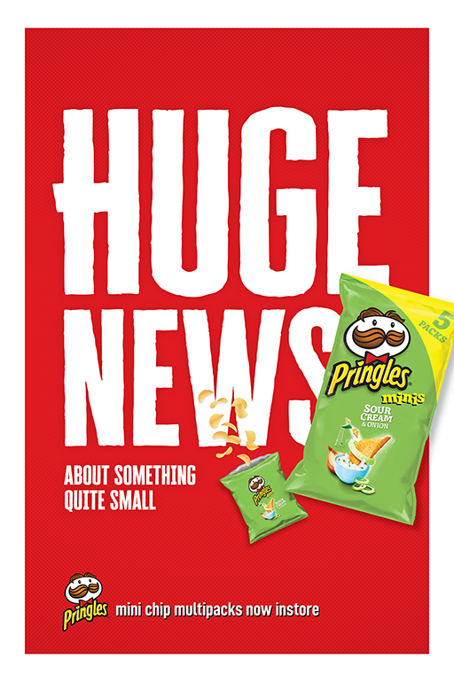 Kellogg's launches first locally created outdoor campaign for Pringles via Akkomplice, MELBOURNE