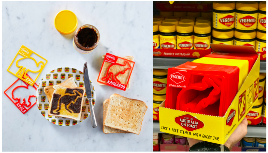 Vegemite brings joy to the family breakfast table with launch of new toast stencils via Thinkerbell