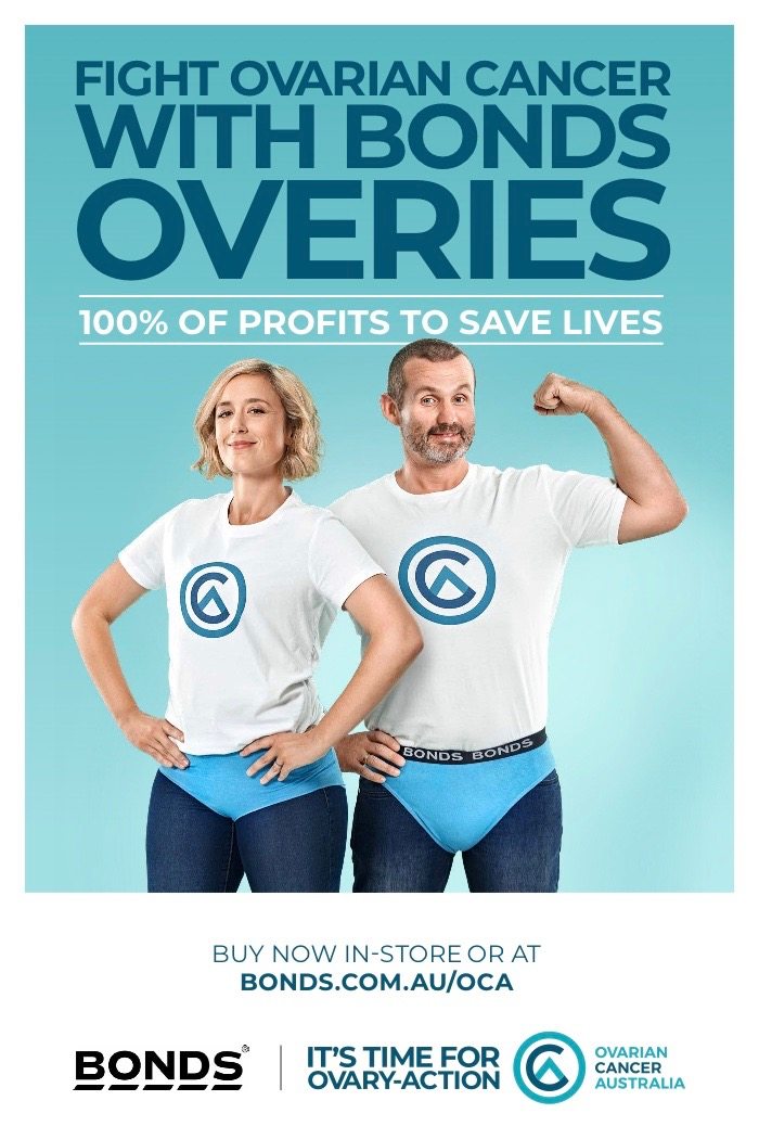 Ovarian Cancer Australia calls for true heroes to wear 'Overies' in latest campaign via 10 feet tall