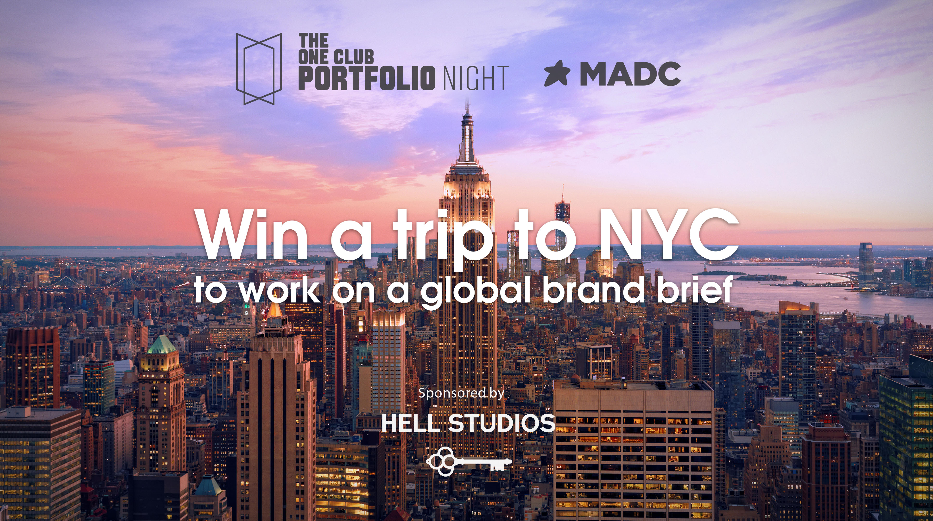 Melbourne's junior creatives can win the ultimate trip to New York City thanks to MADC + The One Club for Creativity's Portfolio Night