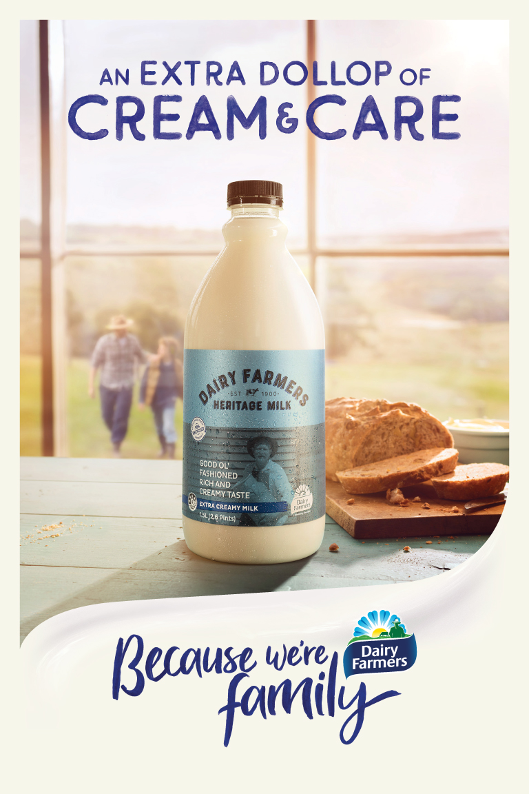 Dairy Farmers launches new 'Because we're family' brand campaign via AJF Partnership