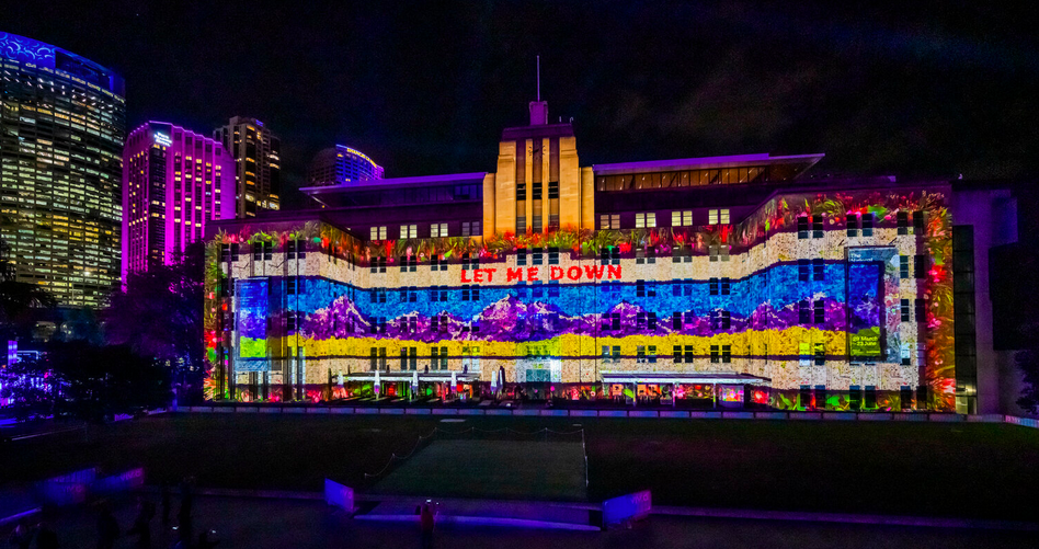 Spinifex and artist Claudia Nicholson create new immersive projection experience for Vivid Sydney