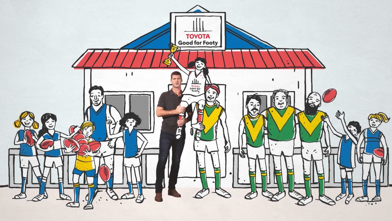 Toyota + AFL's Jonathan Brown encourage fans to be 'Good For Footy' in new AFL campaign via Gemba
