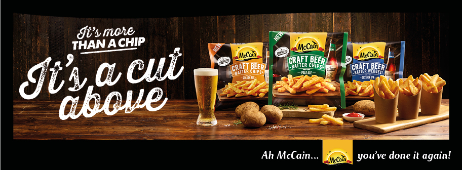 McCain crafts a better beer batter chip in newly launched campaign via Cummins&Partners
