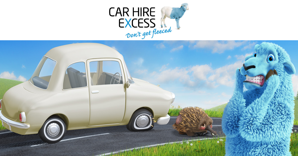 Carhireexcess.com.au's brand new radio spot via ARN promises car hire cover baaa-rgains