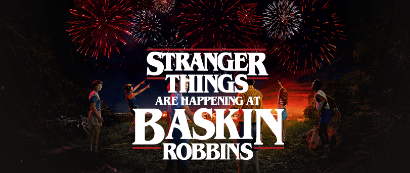 Baskin-Robbins + Netflix promote new season of Stranger Things with a campaign via Type + Pixel