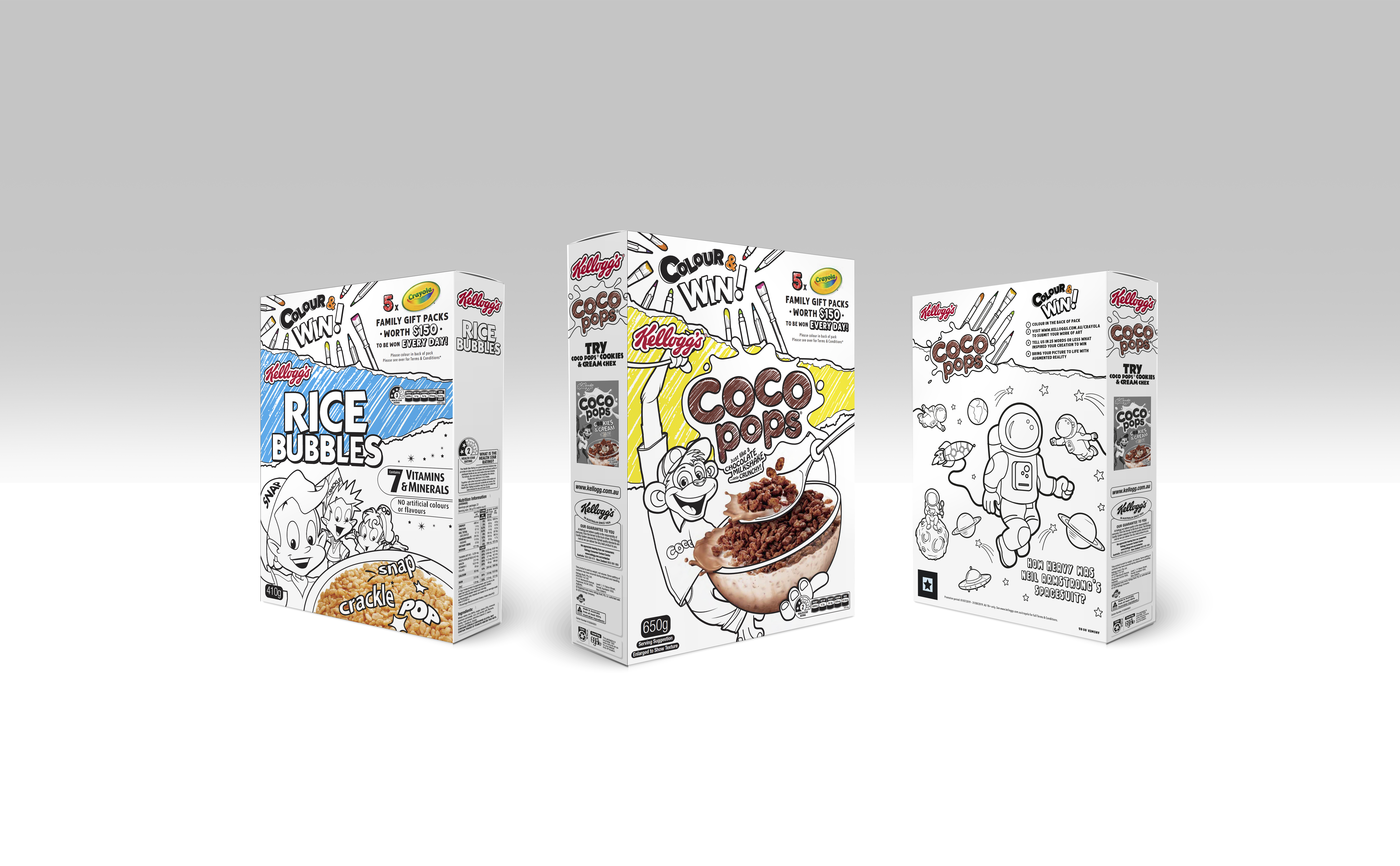 Kellogg's goes black and white in new 'Colour & Win' promotion with Crayola via Kinetic, Sydney