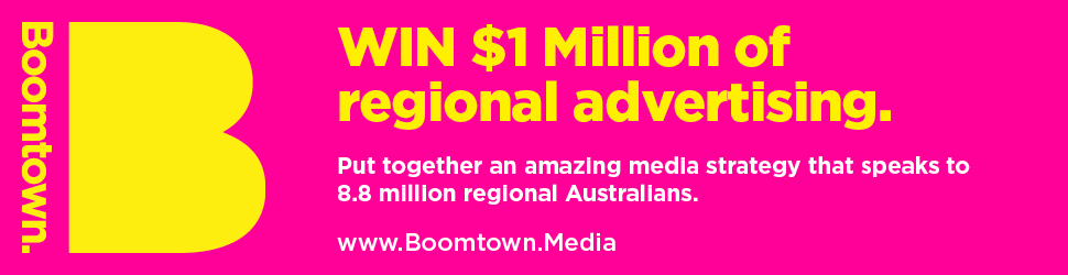 Boomtown to offer $1m in regional advertising to one winning agency or brand in Australia