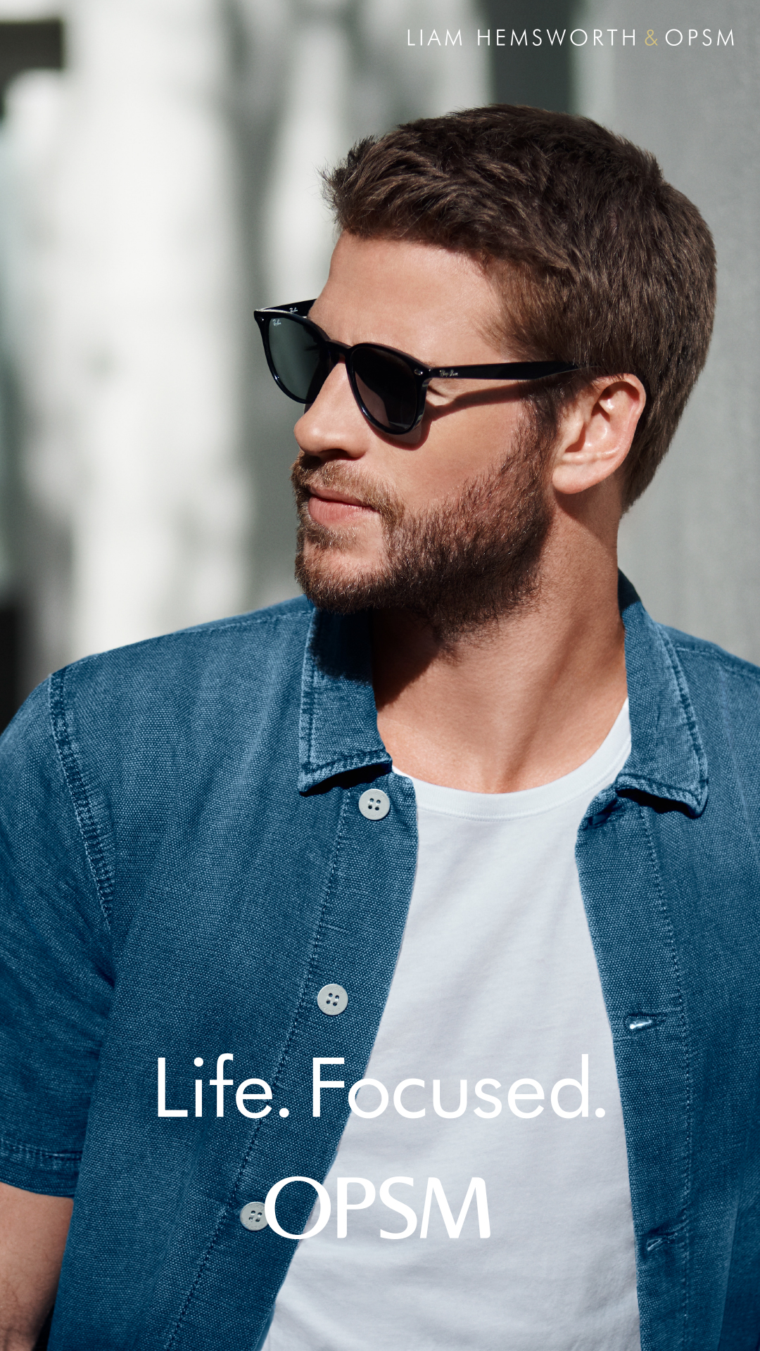 Australian actor Liam Hemsworth fronts OPSM's latest 'Life. Focused' campaign via Bashful