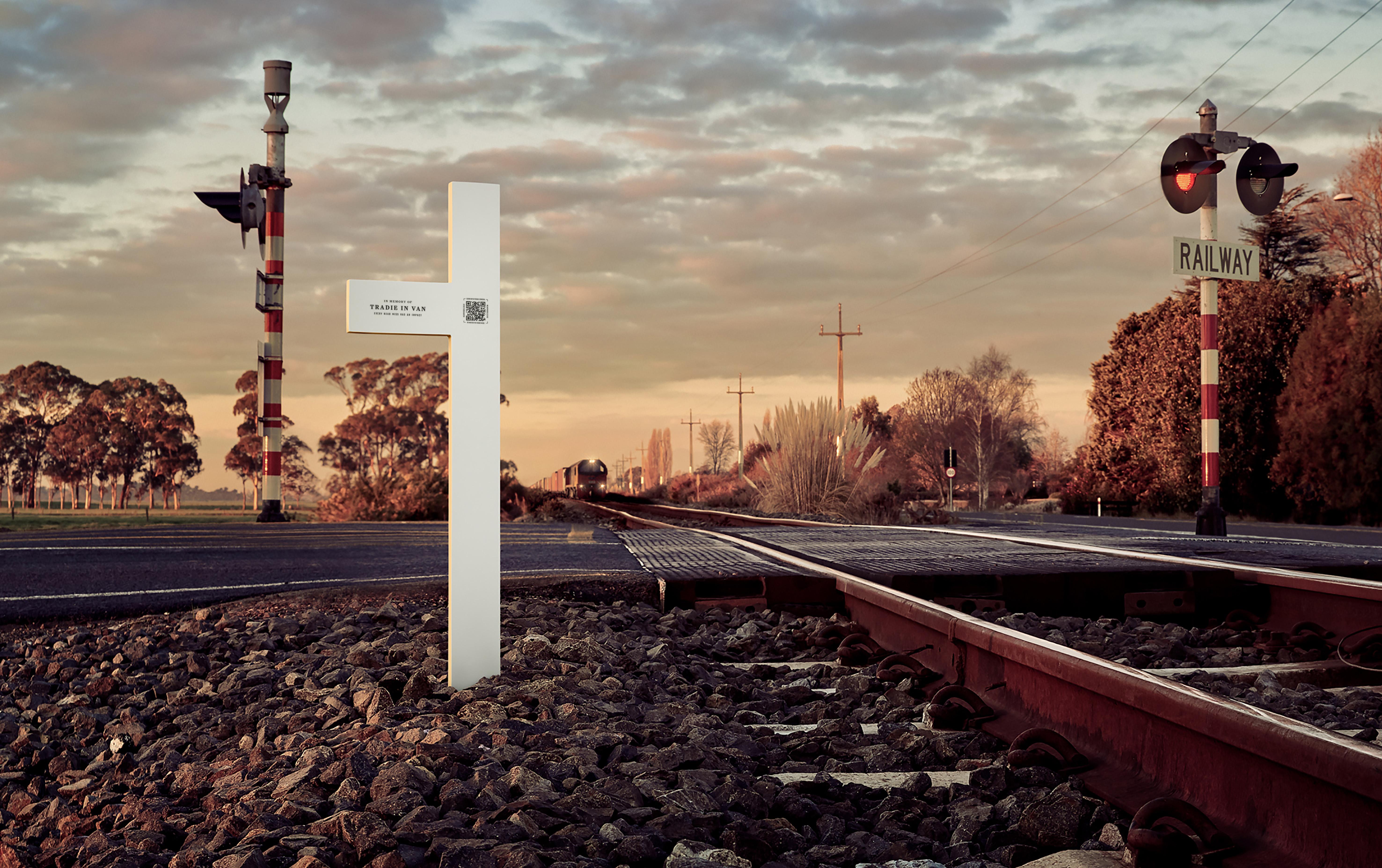 KiwiRail + DDB NZ launch 'Near Miss Memorials' to remember near misses at rail level crossings