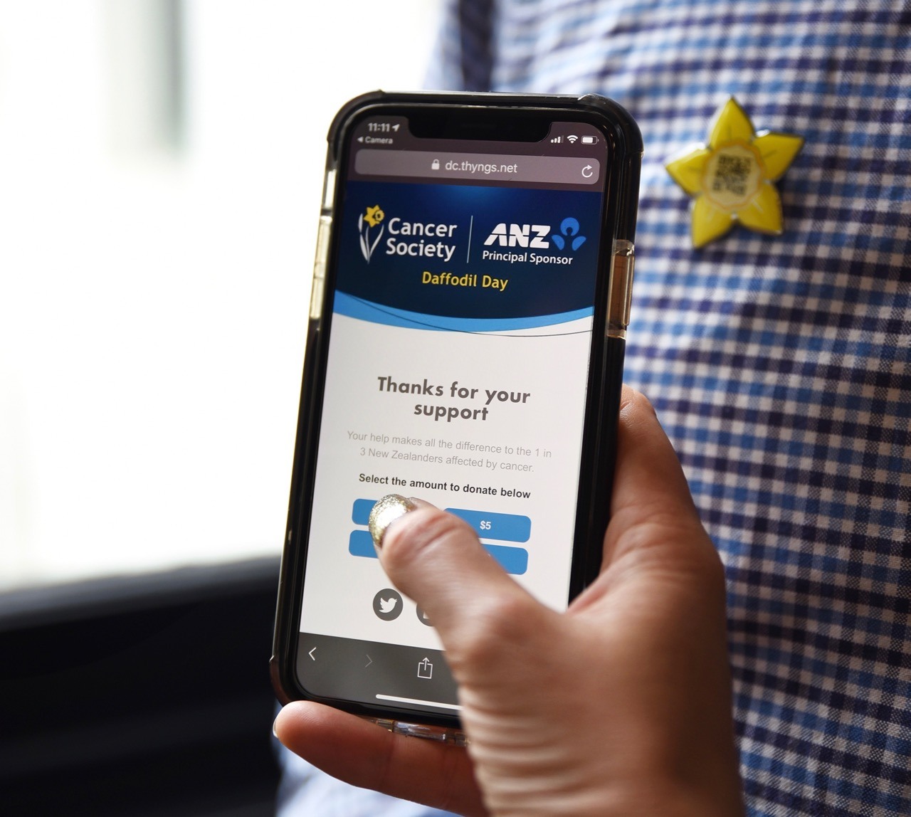 ANZ revolutionises donating for Cancer Society's Daffodil Day with new innovation via TBWANZ
