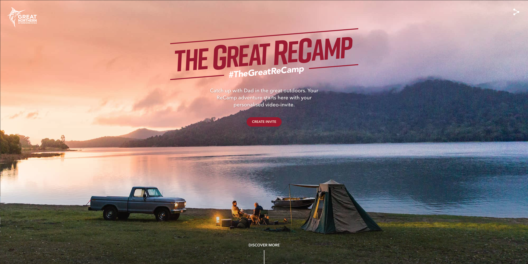 GREAT NORTHERN BREWING CO. LAUNCHES 'THE GREAT RECAMP' FOR FATHER'S DAY VIA TBWA GROUP SYDNEY