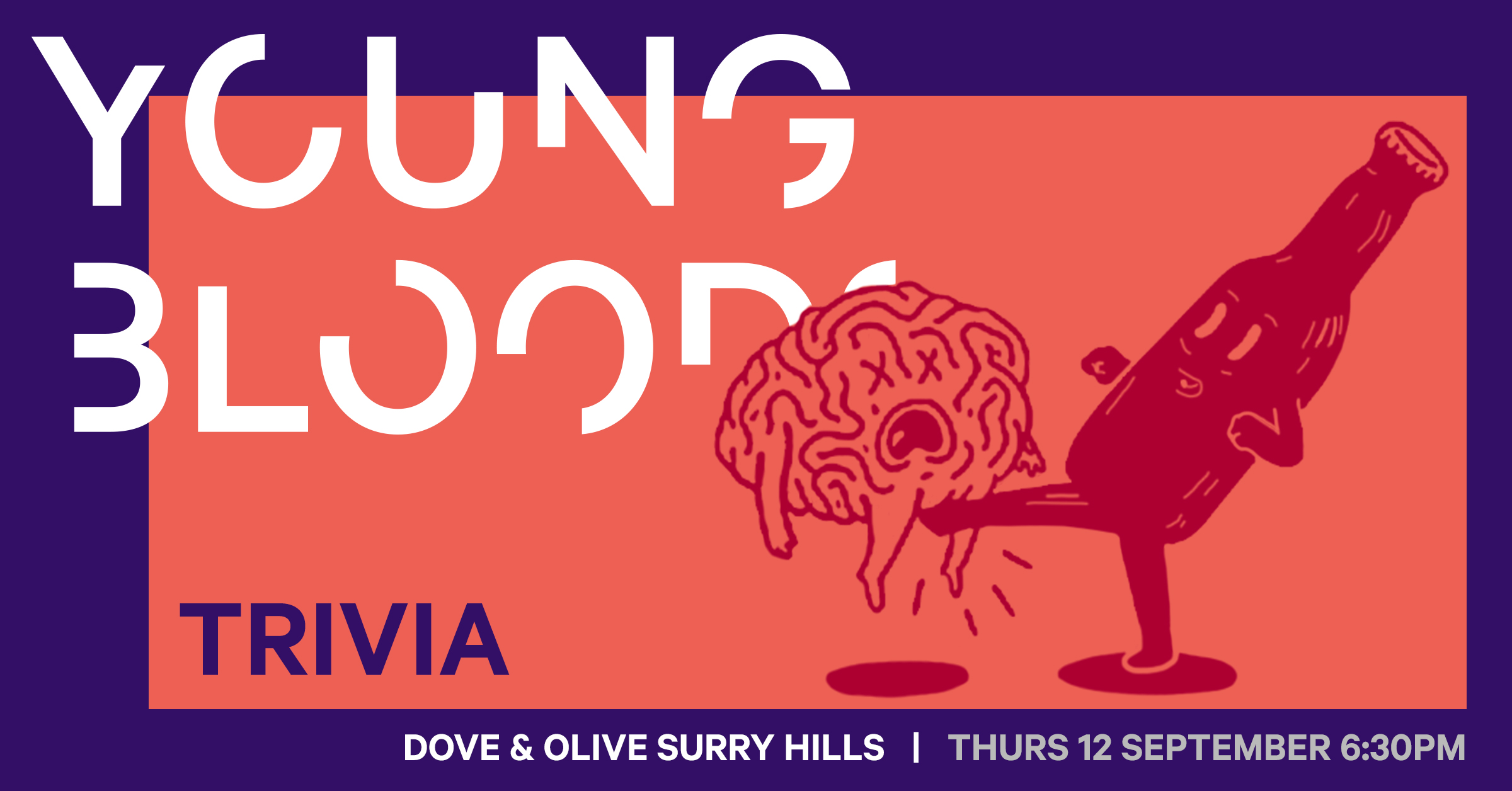 Tickets on sale for Youngbloods NSW Trivia Night – next Thurs, September 12 at Dove & Olive