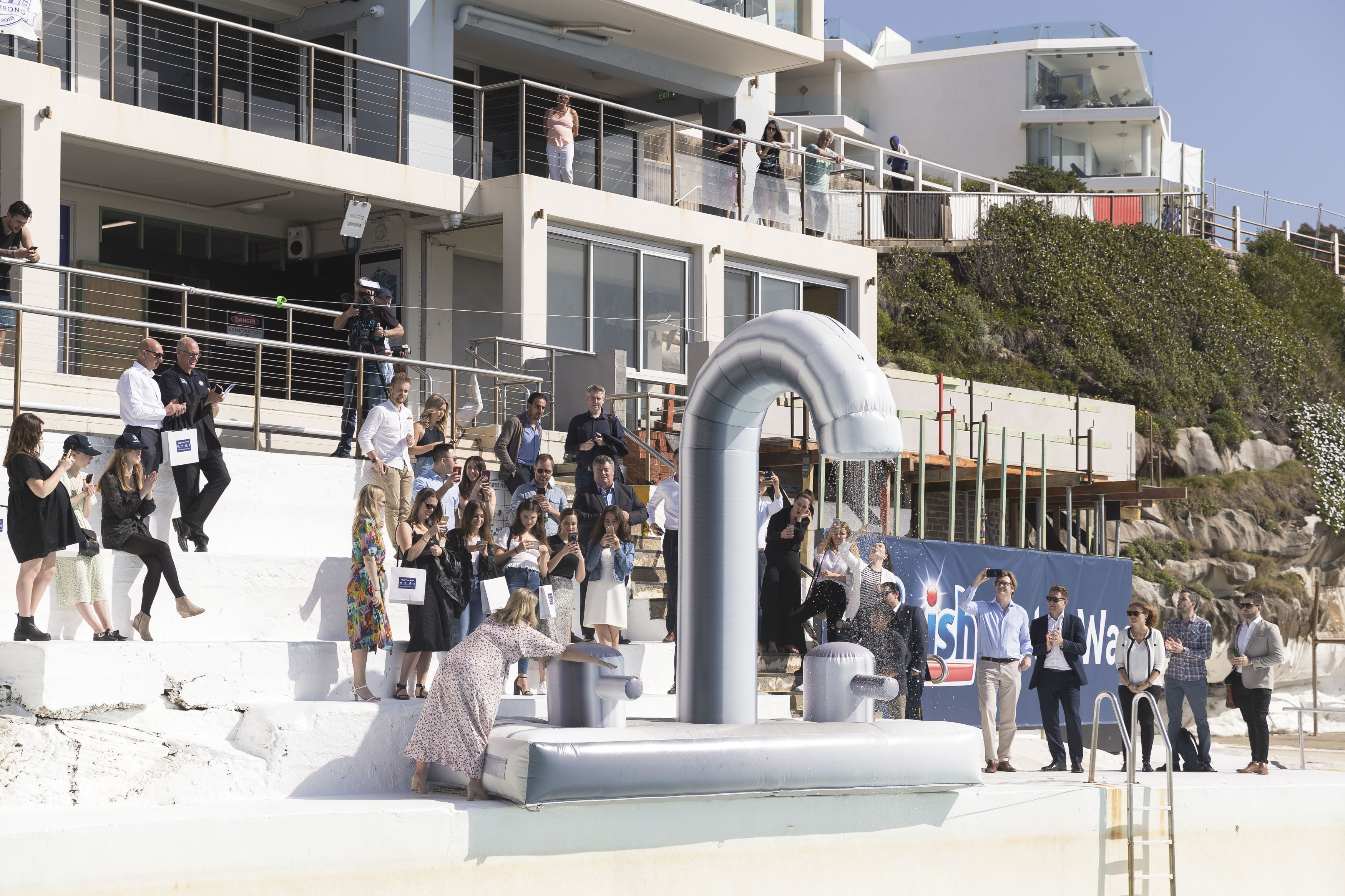 Finish revamps iconic Bondi Icebergs for new #FinishWaterWaste initative + campaign via DEC PR