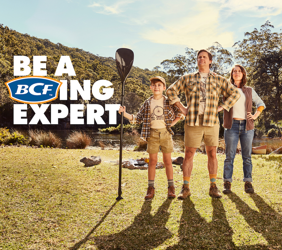 Things go awry in the outdoors in BCF's new campaign via The Monkeys, Melbourne