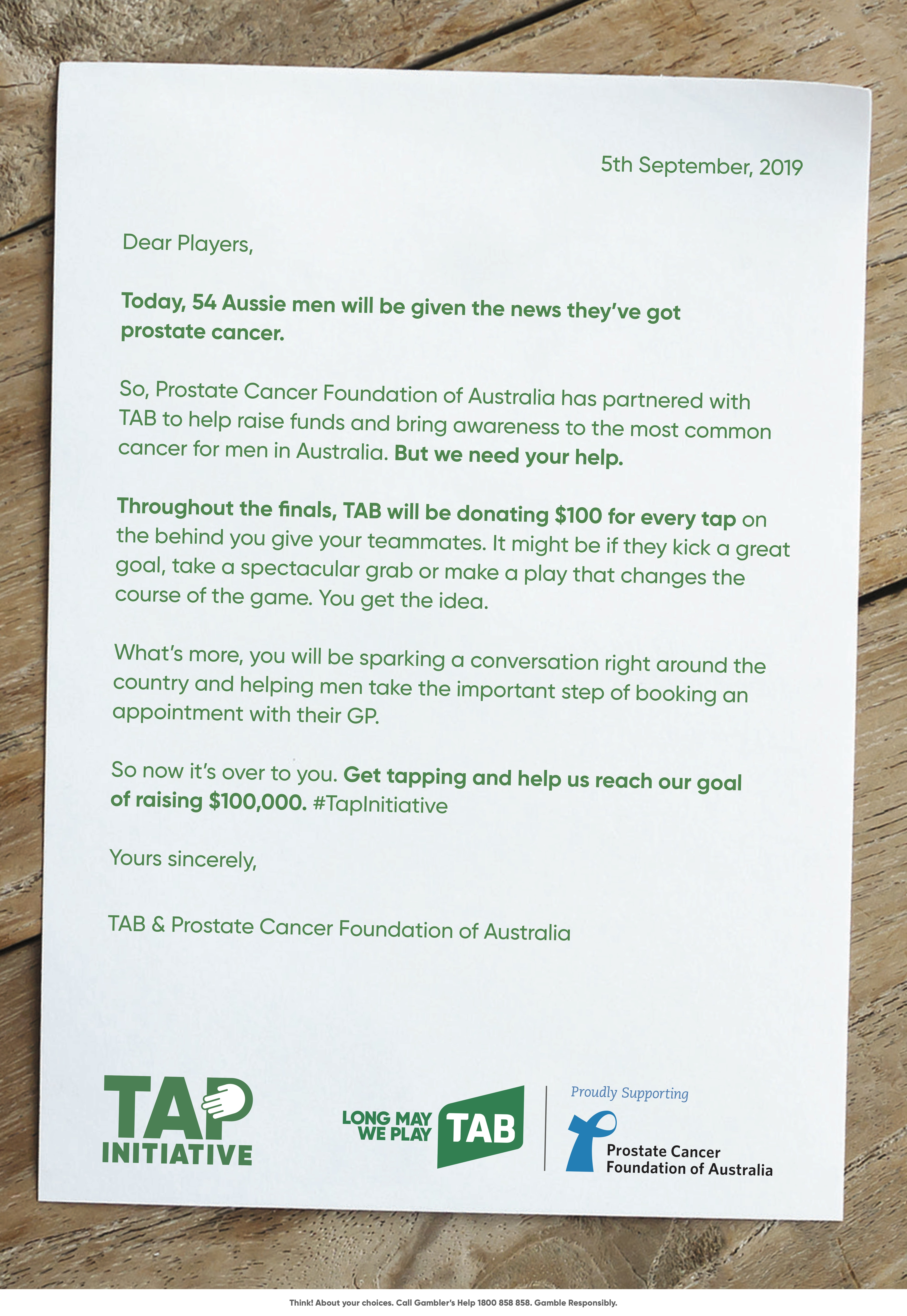 TAB launches new 'Tap Initiative' campaign for prostate cancer awareness via M&C Saatchi