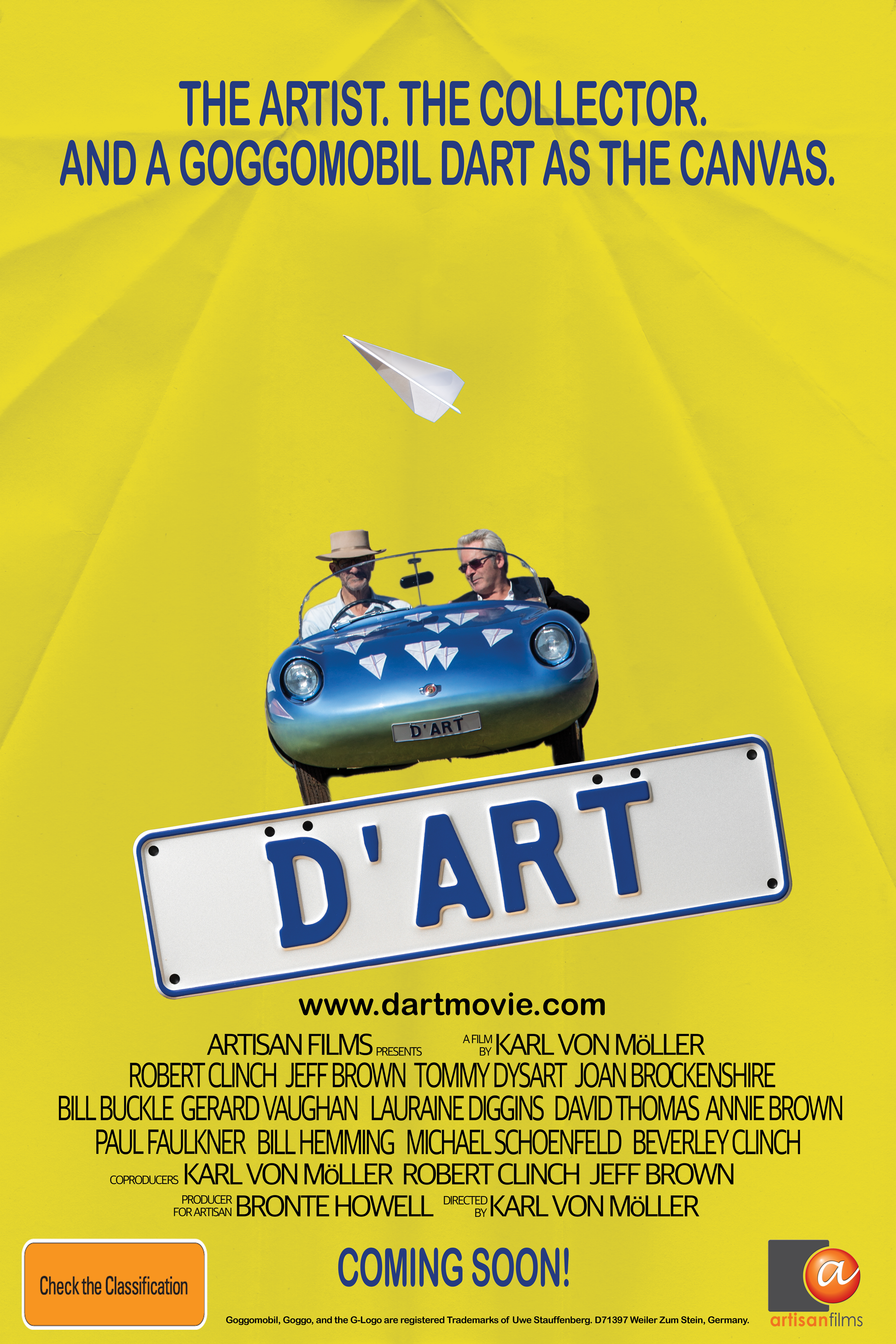 New documentary D'art premieres in Sydney and Melbourne ~ film built around famous Yellow Pages 'Goggomobil' TV commercial from the 90s