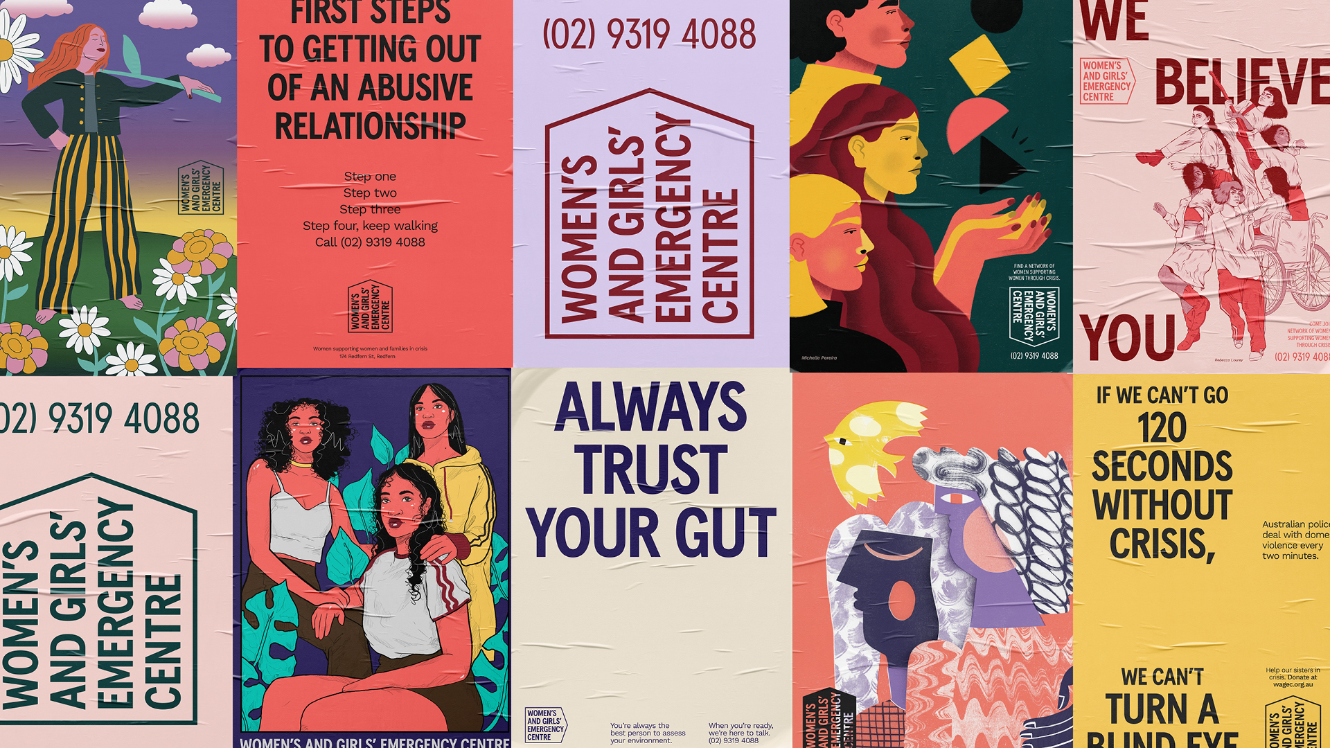 Women's and Girl's Emergency Centre launches new exhibition + brand identity via For The People