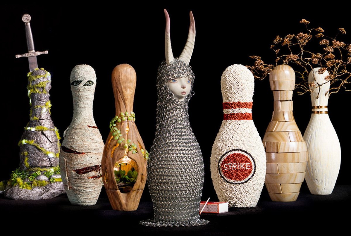 Cutting Edge brings back CEX bowling pin art challenge and auction for Brisbane advertising industry to raise money for Youngcare