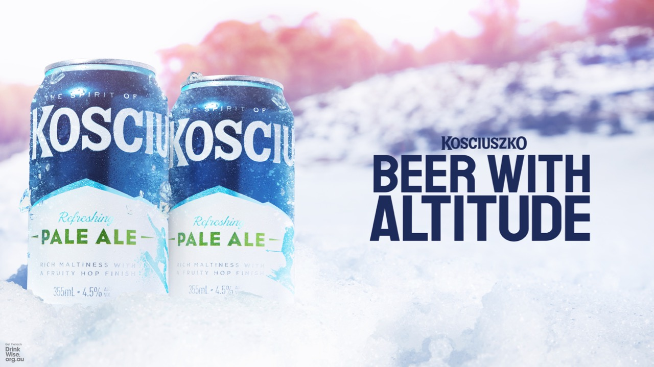 Kosciuszko Pale Ale adds a cool touch to cans inline with new 'Beer With Altitude' campaign