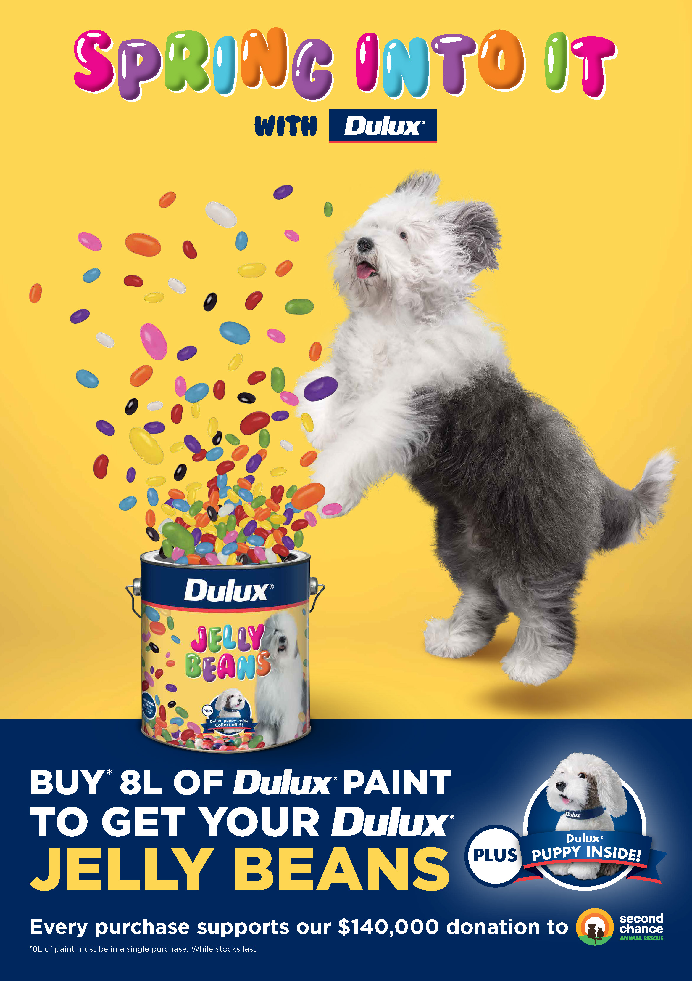 Dulux invites Australians to 'Spring into it' with new Dulux Jelly Beans campaign via Channel T