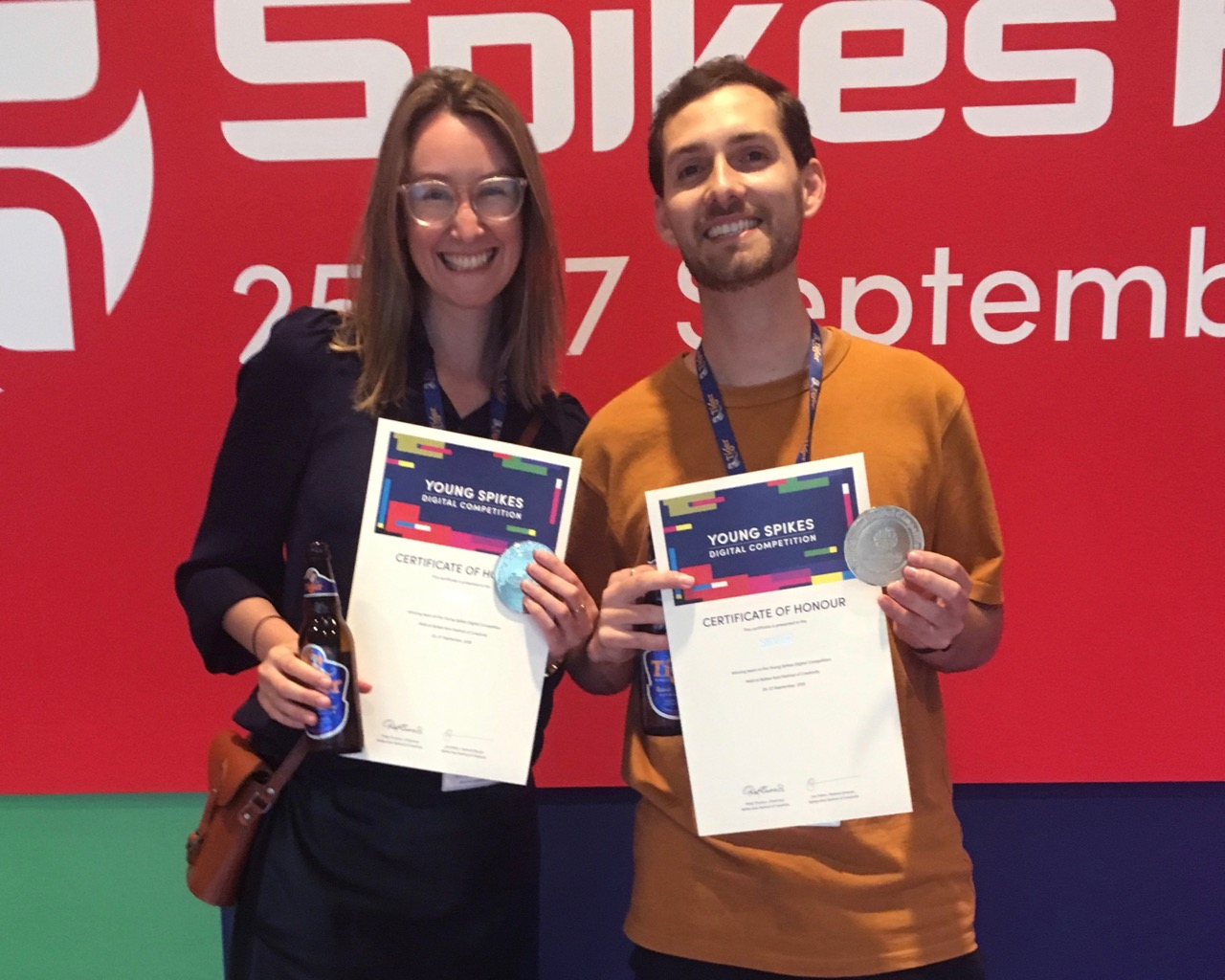 BWM Dentsu's Rosie Double and Scott Pritchett score Silver in Young Spikes Digital competition