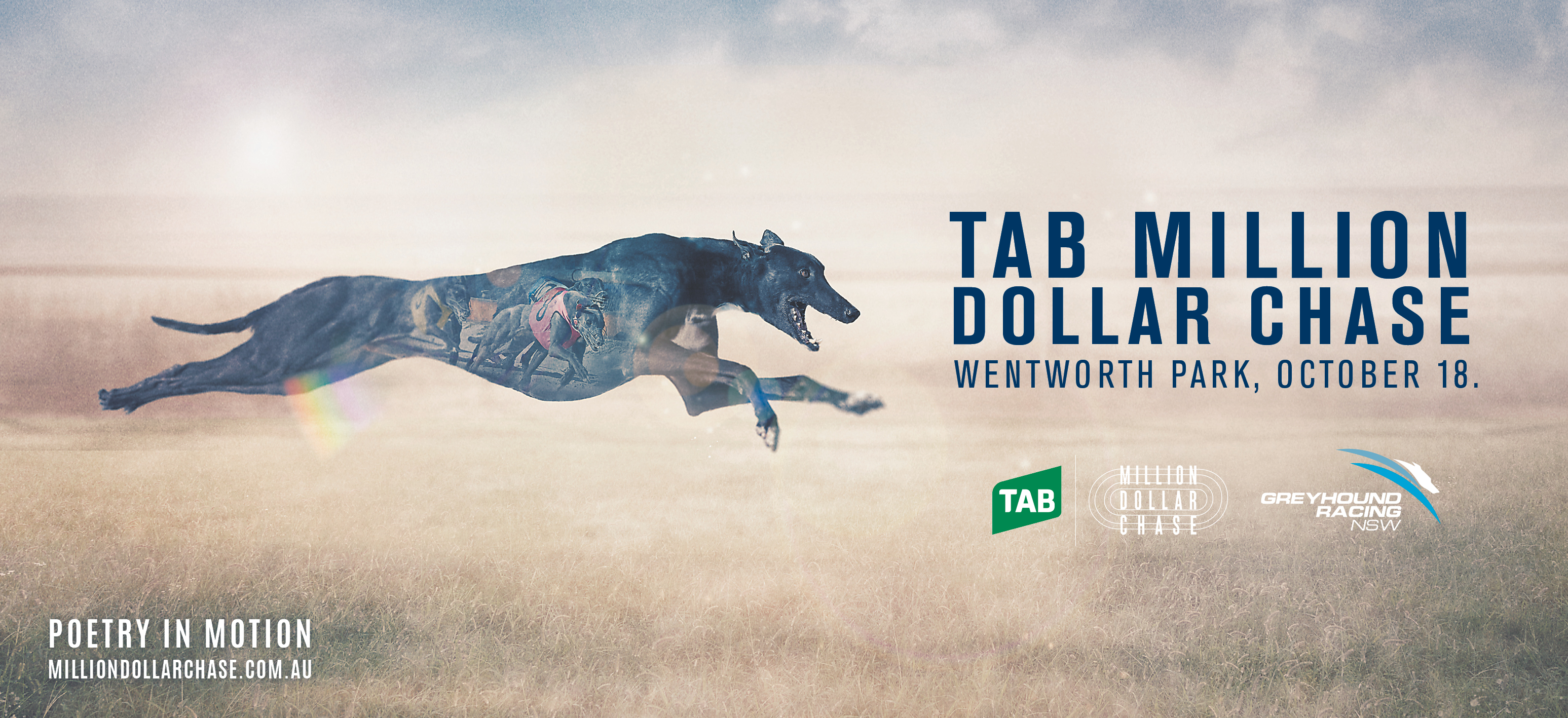 Greyhound Racing NSW unveils new campaign for the TAB Million Dollar Chase via Bastion Banjo