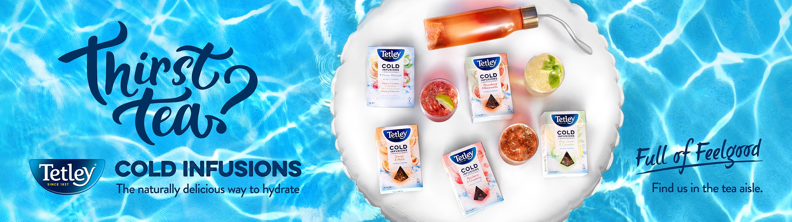Tetley asks Australians if they are 'Thirst Tea?' in new Cold Infusions campaign via The Works