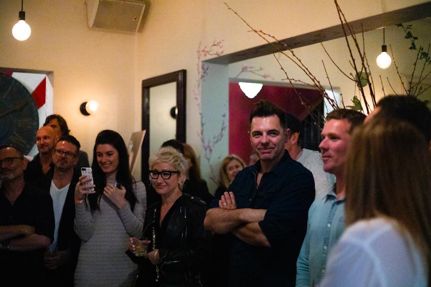 Guests celebrate Flint's third birthday + launch of fourth Flint Journal at Crane Bar last week