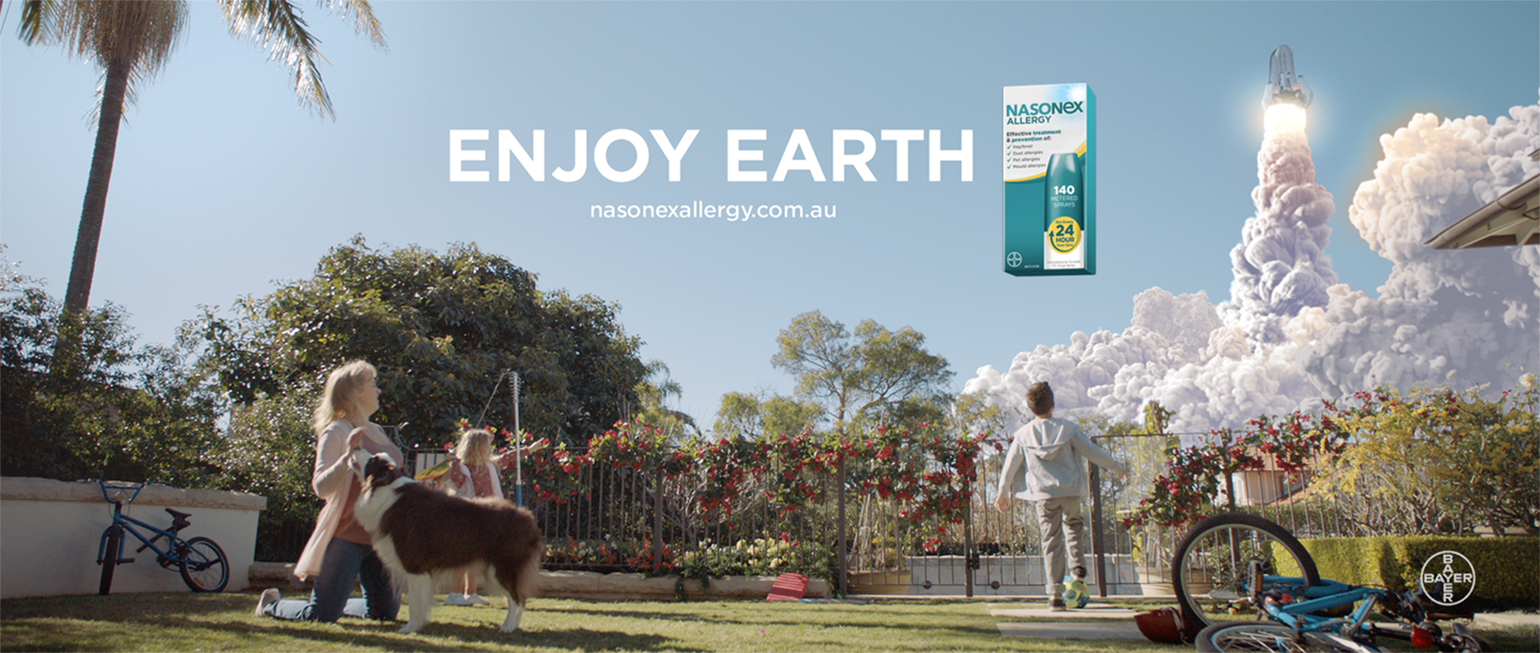 Man plagued with allergies heads to space in Nasonex Allergy's latest television campaign