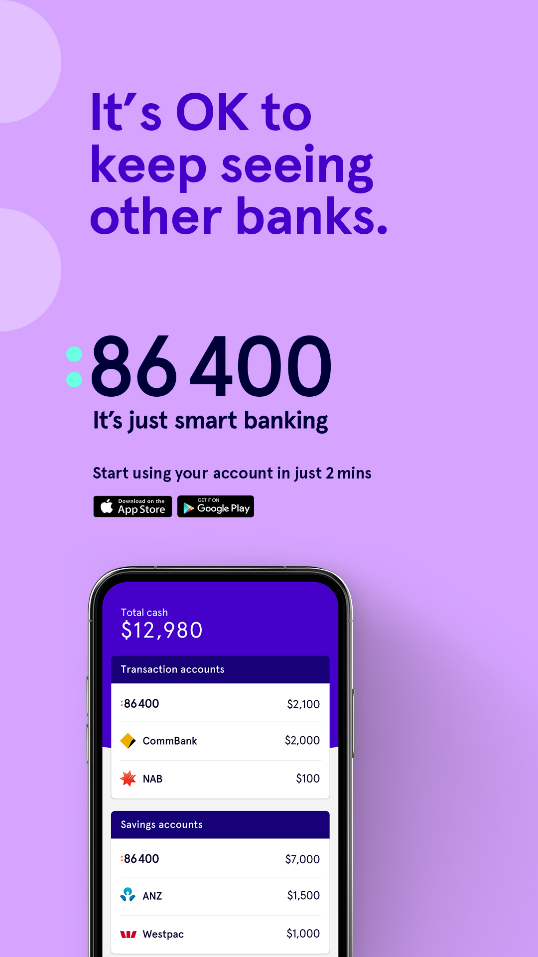 Australian smart bank 86 400 launches new 'It's Just Smart Banking' brand campaign via Bashful