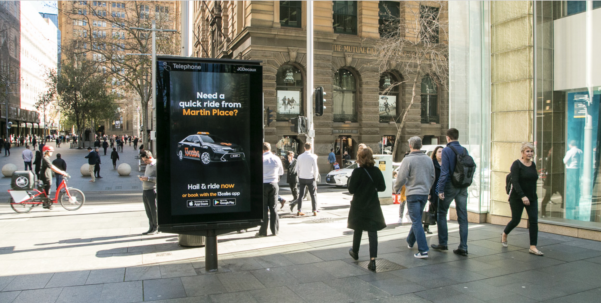 13cabs encourages Australians to hail a taxi in latest 'Heads Up' campaign via Thinkerbell