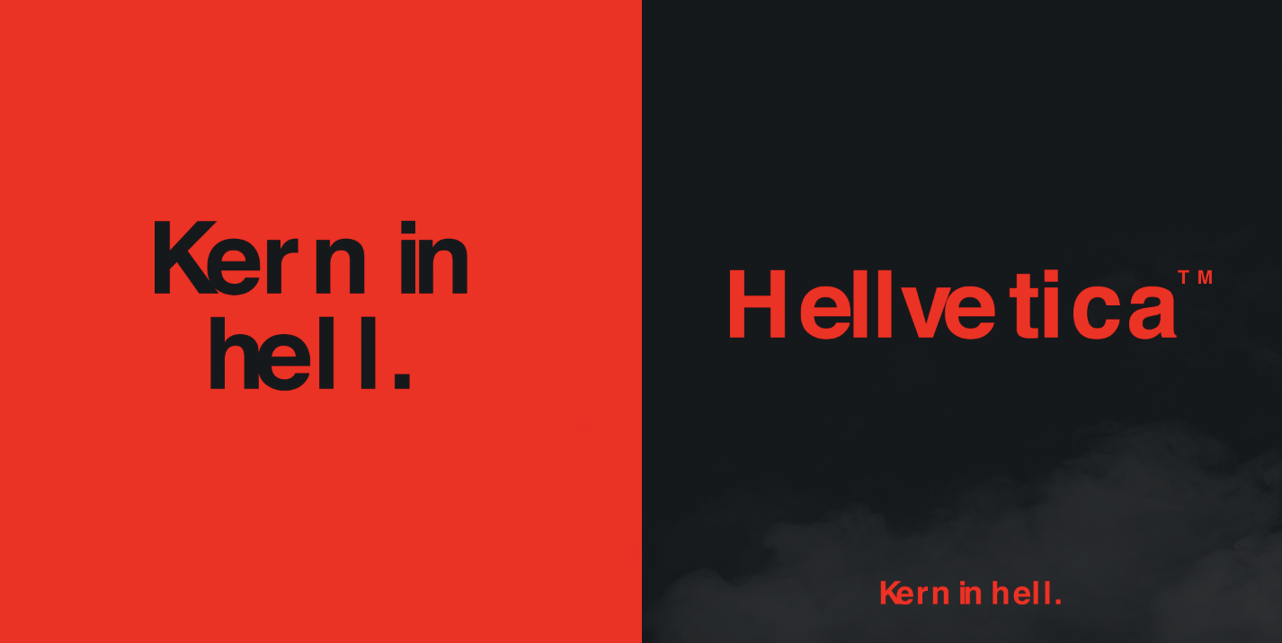 Kern in hell: R/GA New York creatives launch hellish font 'Hellvetica' for Halloween