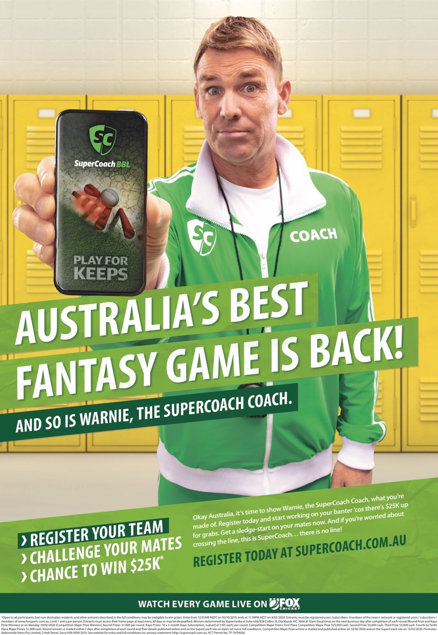 Supercoach Shane Warne wants you in latest News Corp Australia campaign via The Works