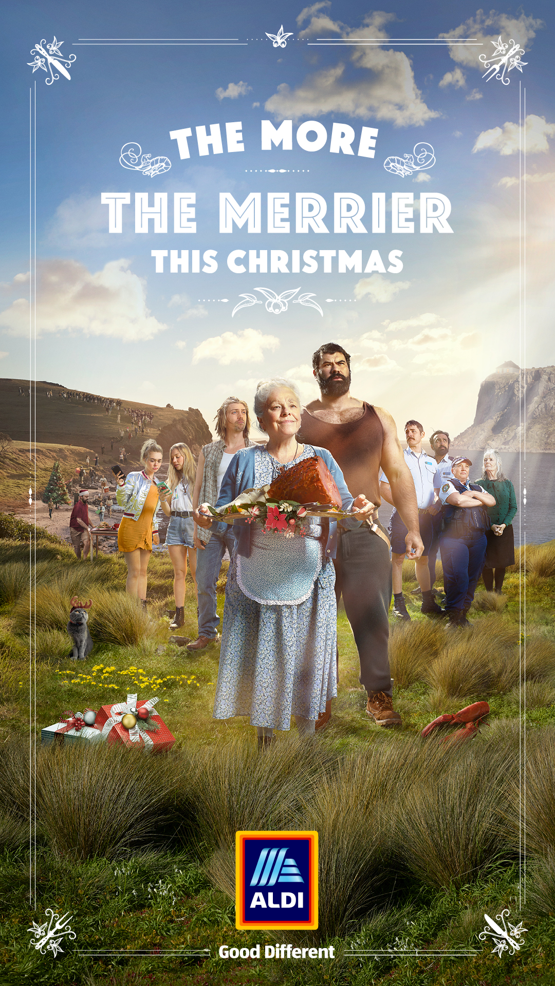 ALDI unveils the miracle ham in new 'The More The Merrier' 2019 Christmas campaign via BMF Sydney