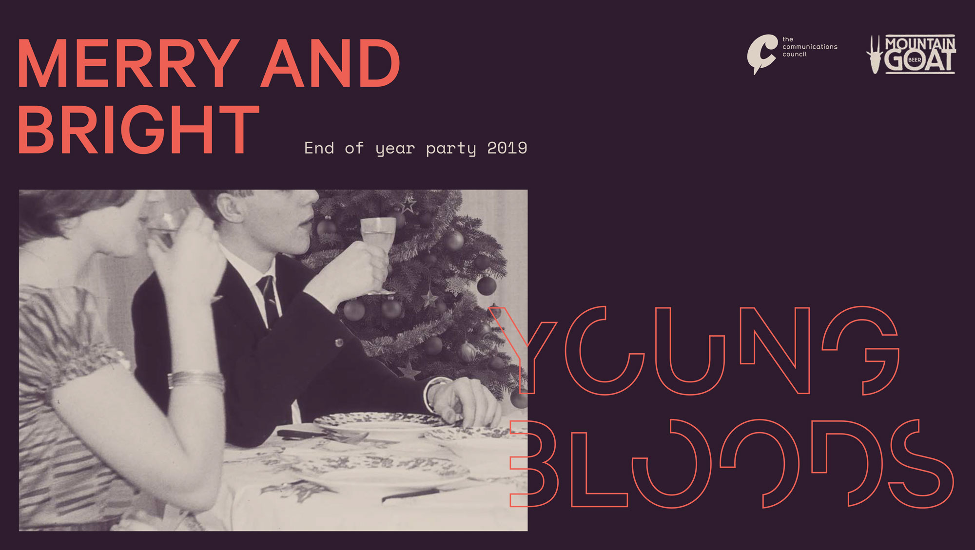 Youngbloods VIC to host 'Merry and Bright' end of year party at Mountain Goat Brewery in Richmond, next Thursday, 21 November