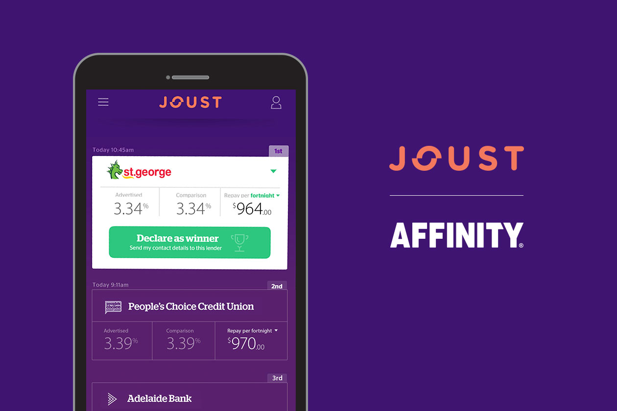 JOUST appoints AFFINITY as new full service agency to shake up the home loan landscape