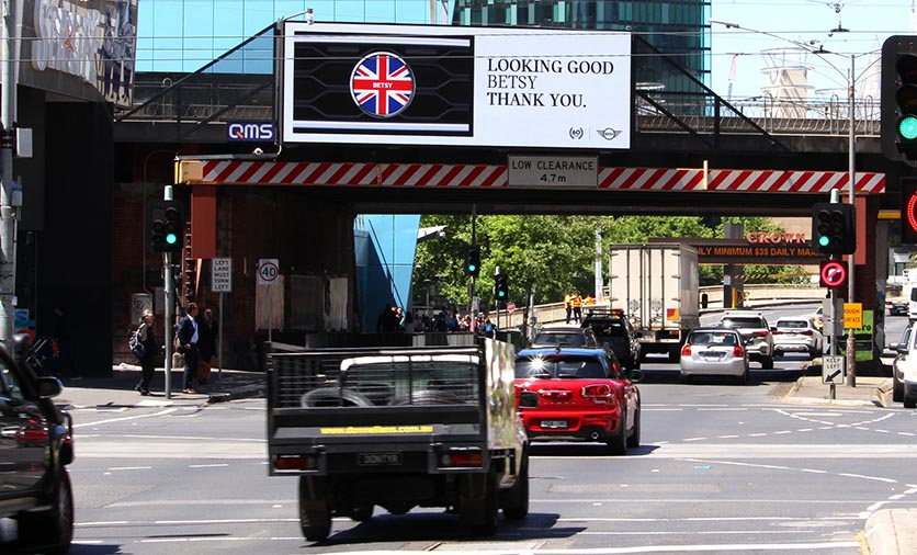 MINI Australia turns 60 in style with bespoke OOH campaign via Dentsu Aegis Network Utilising number plate recognition technology