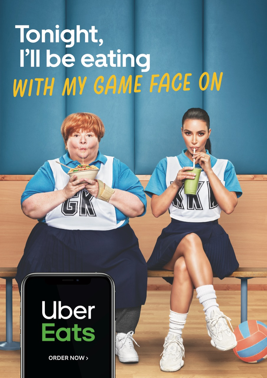 Kim Kardashian's order is NOICE! in Uber Eats' new 'Tonight I'll Be Eating…' TVC via Special Group