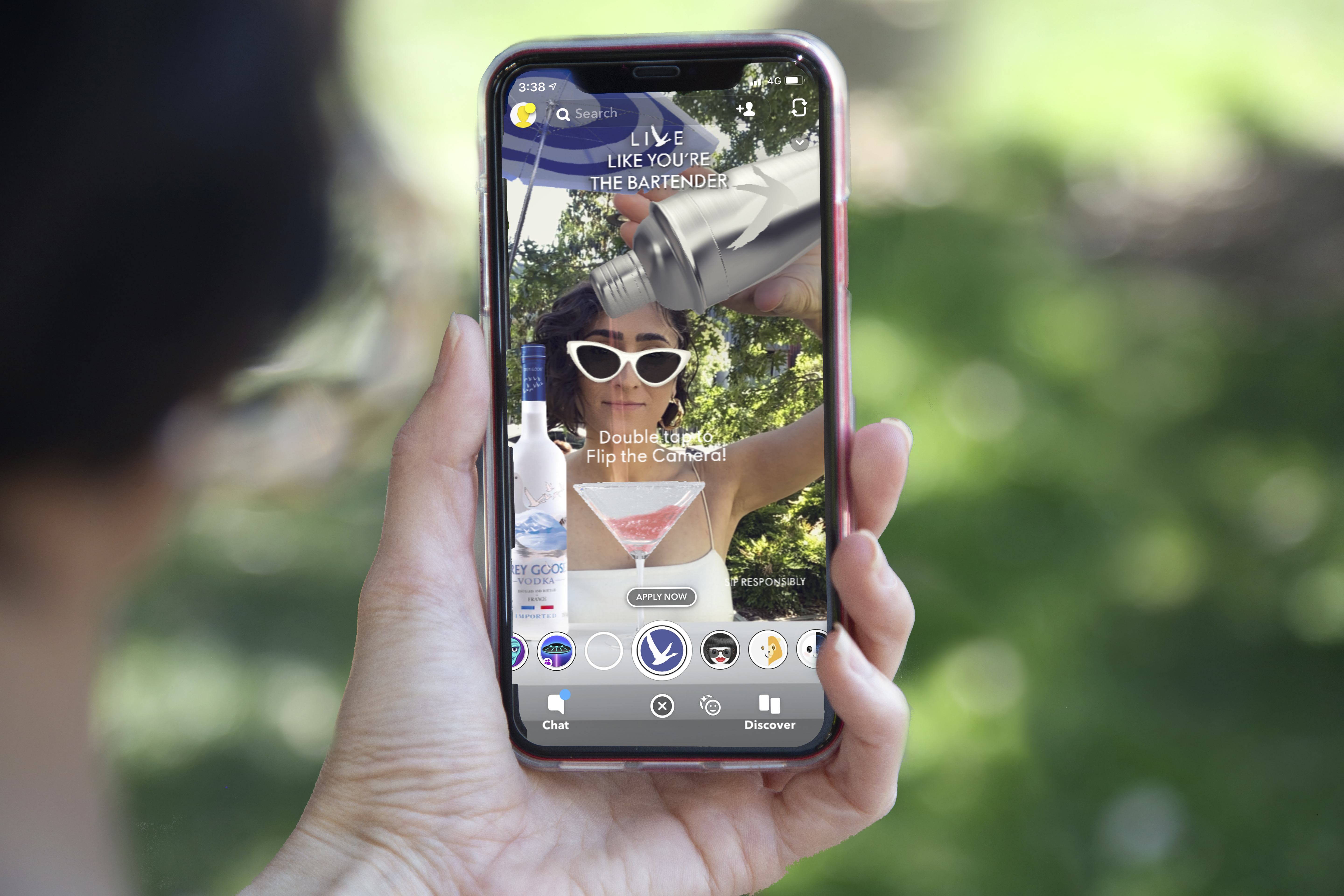 Grey Goose utilises AR and a gamified Snapchat lens in new campaign via OMD Create, Sydney