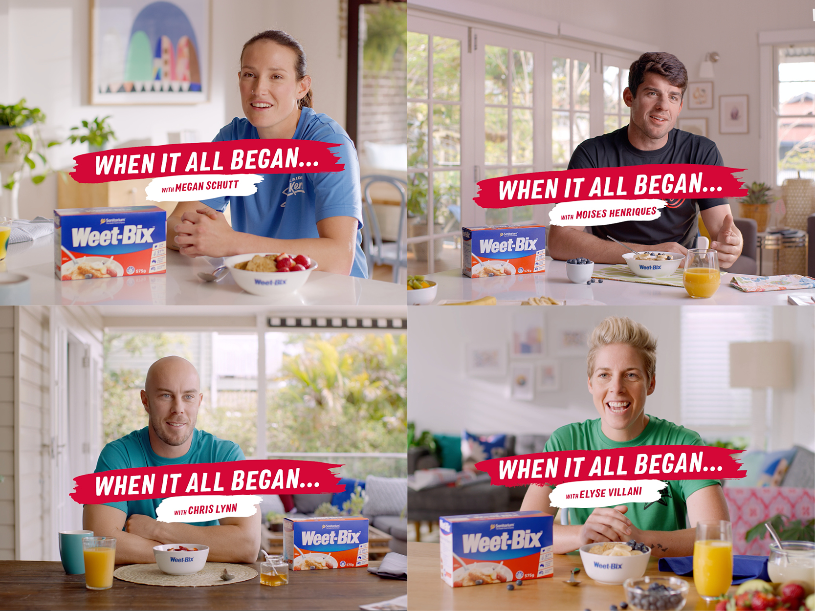 Weet-Bix celebrates Big-Bash superstars in newly launched 'When It All Began' campaign via Gemba