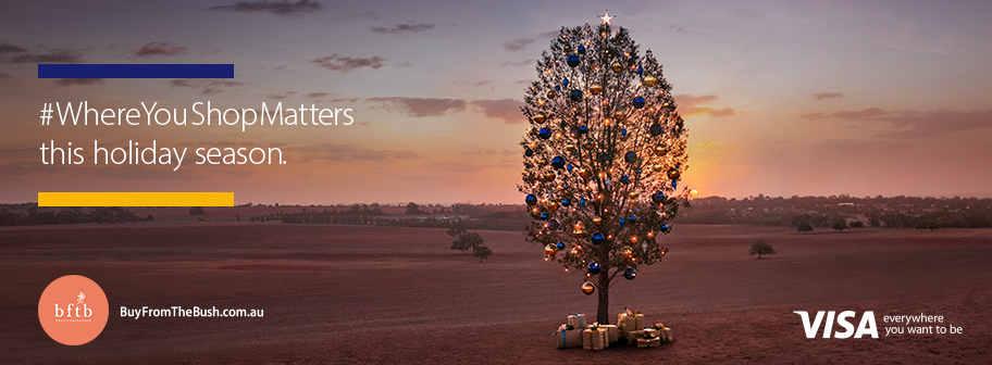 Visa reminds Aussies where you shop matters in Buy From The Bush campaign via Clemenger BBDO