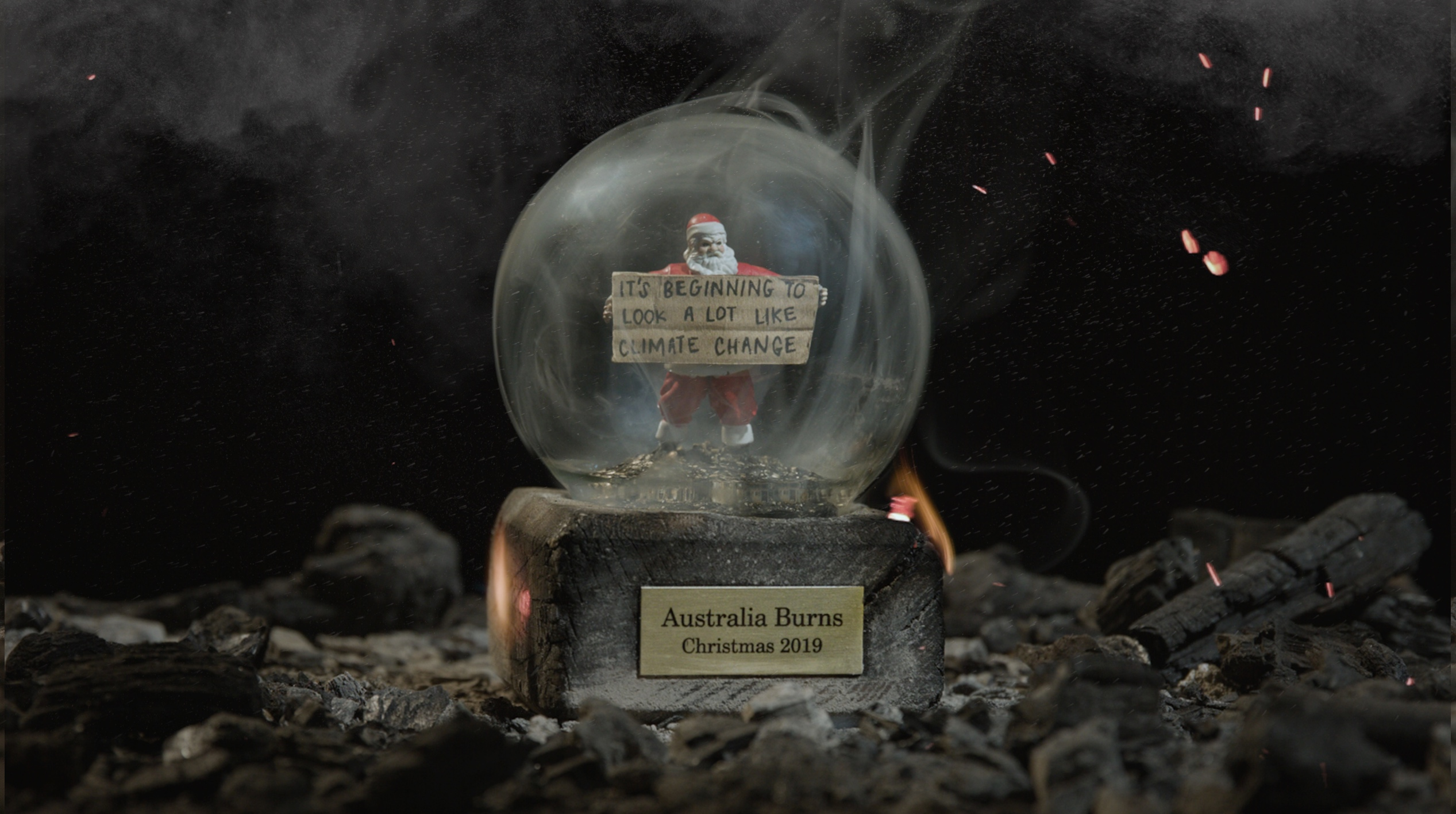 Greenpeace targets climate change blockers with ash filled Christmas snow globes via The Works