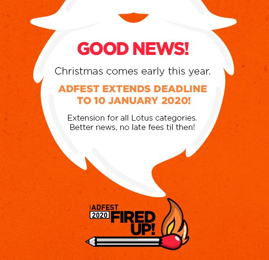 AdFest extends deadline to Friday, 10 January