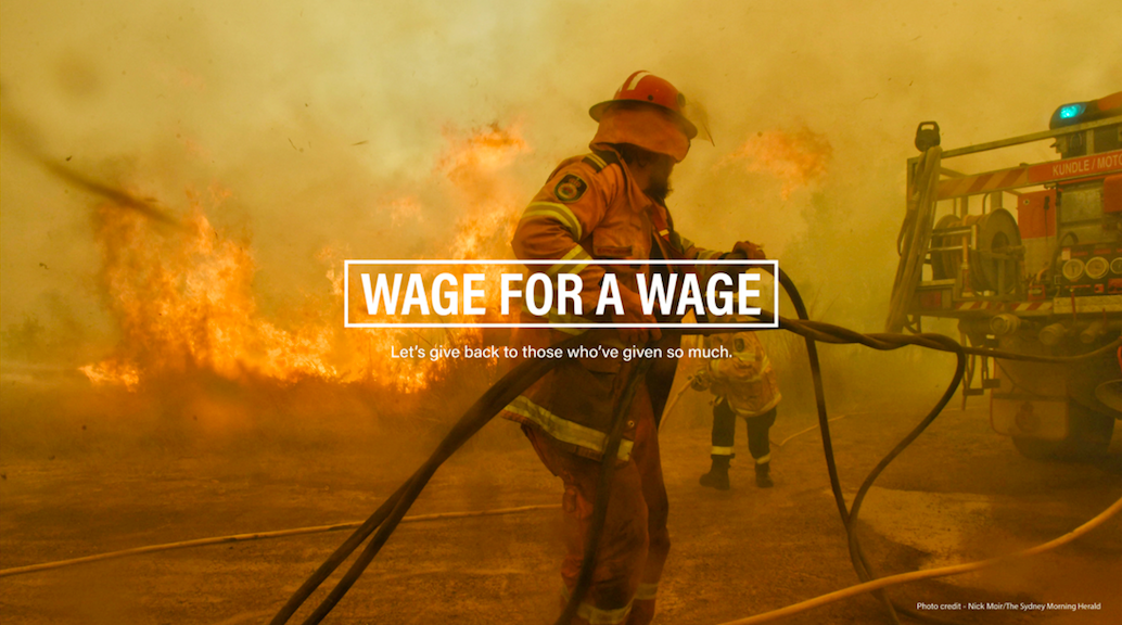 Agency leaders and marketers call on industry to support volunteer fire fighters with launch of 'Wage For A Wage' fundraising appeal